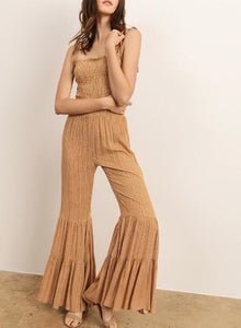 Mustard Bell Bottom Jumpsuit - Cocoa Couture Miami - Clothing Boutique