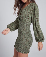 Moss Green Smocking Skirt Dress - Cocoa Couture Miami - Clothing Boutique