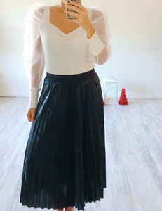 Black Pleated Skirt - Cocoa Couture Miami - Clothing Boutique