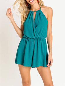 Green  Romper - Cocoa Couture Miami - Clothing Boutique