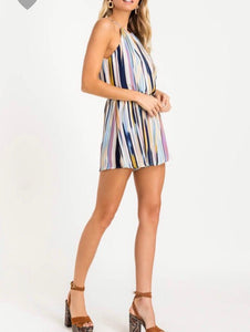 Stripe Blue Romper