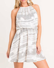 Ivory & Black Sleeveless Dress - Cocoa Couture Miami - Clothing Boutique