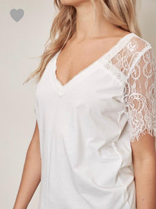 White Lace Tee