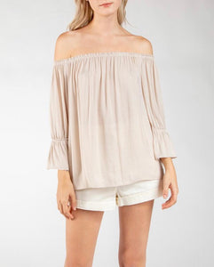 Bone Off Shoulder Top