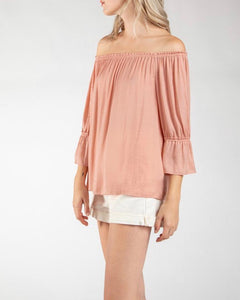 Peach Off Shoulder Top