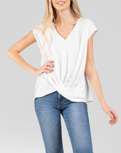 White V- Neck Top