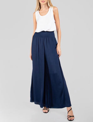 Navy Cinched Waist Pants