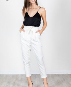 White High Waisted Pants - Cocoa Couture Miami Boutique