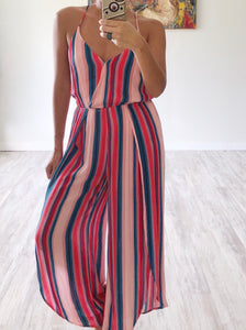 Red Stripe Jumpsuit