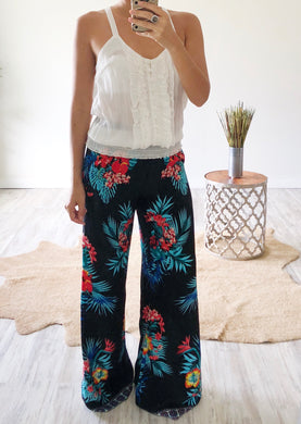 Black Floral Pants - Cocoa Couture Miami - Clothing Boutique