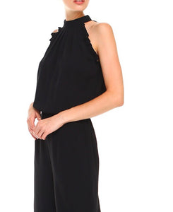 Black Frilly Jumpsuit - Cocoa Couture Miami - Clothing Boutique