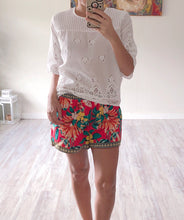 Red Floral Shorts - Cocoa Couture Miami Boutique