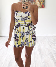 Yellow Floral Romper - Cocoa Couture Miami Boutique