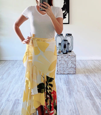 Yellow Ruffle Skirt