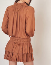 Caramel Ruffle Dress - Cocoa Couture Miami - Clothing Boutique