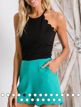 Mint Scalloped Shorts - Cocoa Couture Miami - Clothing Boutique