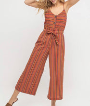 Red Multi-Stripe Jumpsuit - Cocoa Couture Miami Boutique