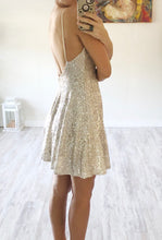 Silver & Nude Sequin Dress - Cocoa Couture Miami Boutique