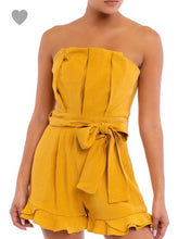 Mustard Strapless Romper - Cocoa Couture Miami - Clothing Boutique