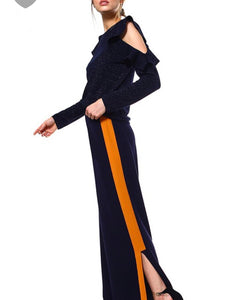 Navy Pants with Side Stripe - Cocoa Couture Miami Boutique