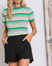Black Scalloped Shorts - Cocoa Couture Miami Boutique
