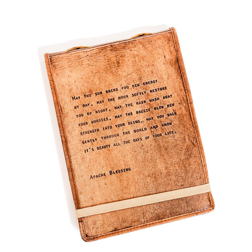 Brown Leather Journal - Muhammad Ali Quote