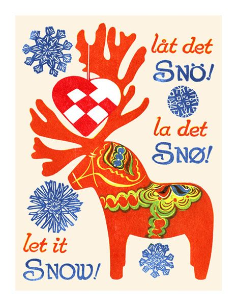 Let it Sno Greeting Card