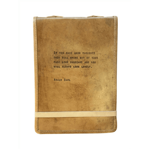Brown Leather Journal - Roald Dahlu Quote