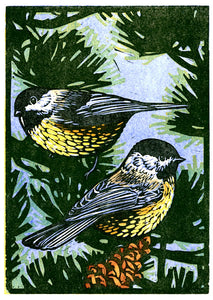 Two Chickadees Card