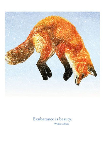 Exuberance is Beauty Card