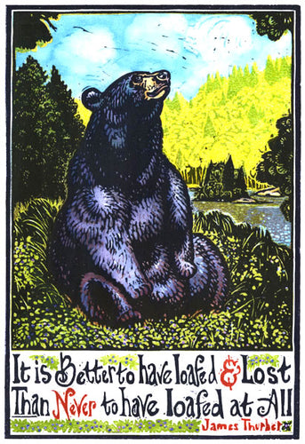 Loafing Bear Card