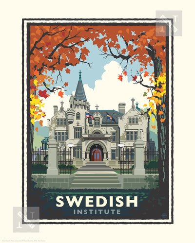 American Swedish Institute Fall - Landmark Series Print