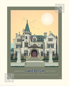 American Swedish Institute Summer - Landmark Series Print