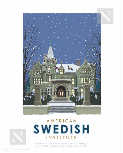 American Swedish Institute Winter - Landmark Series Print