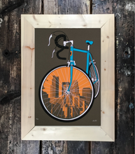 Wide Custom Frame: Wood Tones