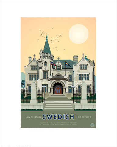 American Swedish Institute Summer - Landmark Series Card