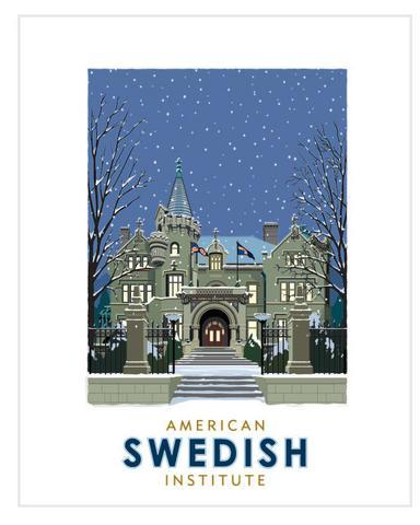 American Swedish Institute Winter - Landmark Series Card