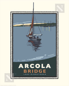 Lake Minnetonka Arcola Bridge - Landmark Series Print