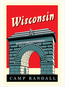 "UW-Madison Badgers ""Big Red"" - Landmark University Series Print"