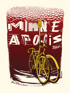 Bars, Bikes and Beers Print