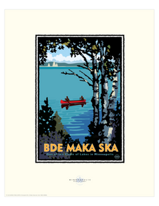 Bde Mka Ska - Landmark Series Card