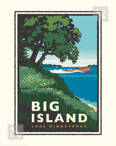 Lake Minnetonka Big Island - Landmark Series Print
