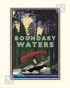 Boundary Waters Portage - Landmark Series Print