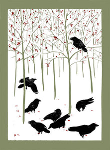 Ravens in Winter Card