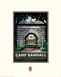 "UW-Madison Badgers ""Camp Randall Arch"" - Landmark University Series Print"