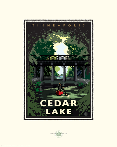 Cedar Lake - Landmark Series Card
