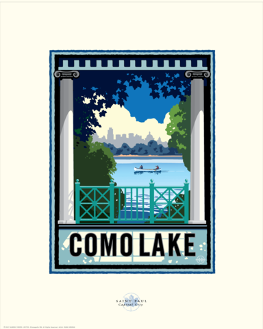 Como Lake - Landmark Series Card