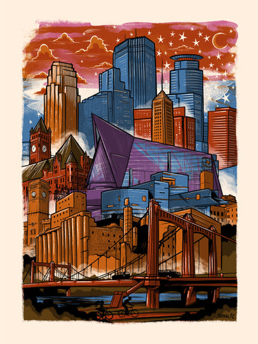 Downtown Minneapolis Skyline Postcard