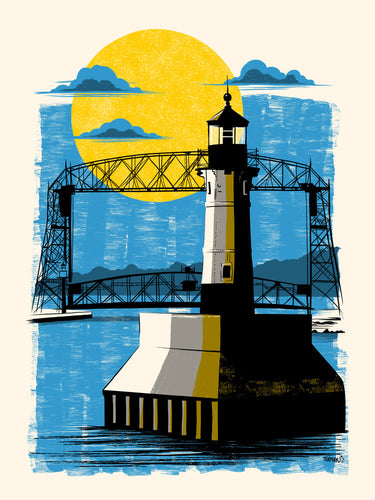 Duluth Ariel Bridge Postcard
