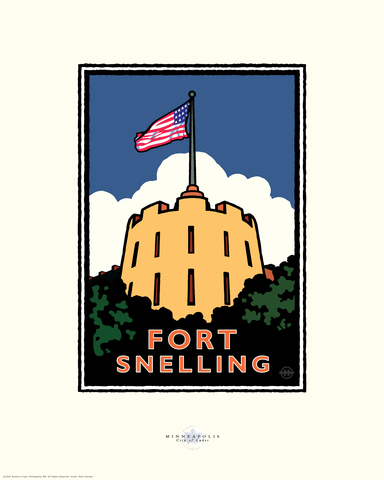 Fort Snelling - Landmark Series Card